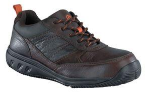 Rockport Works adiPRENE Oxford Work Shoes - Composition Toe, Brown, hi-res