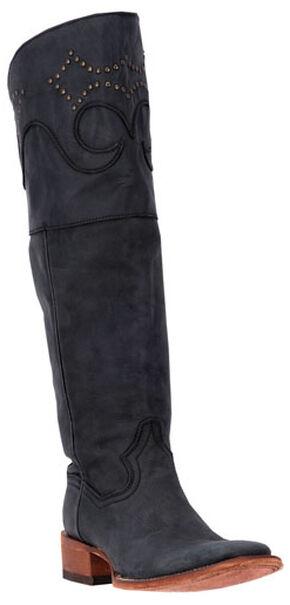 Dan Post Women's Black Misstaken Riding Boots - Square Toe , Black, hi-res