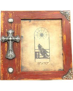 "Western Moments Fancy Cross Wooden Photo Frame - 8"" x 10"", , hi-res"