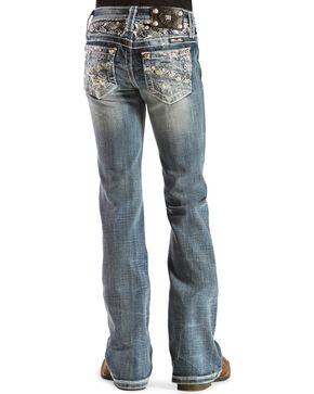 Miss Me Girls' Open Pocket Embellished Jeans, Denim, hi-res