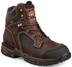 Red Wing Irish Setter Two Harbors Hiker Work Boots - Steel Toe  , Brown, hi-res