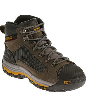 Caterpillar Men's Dark Grey Convex Mid Work Boots - Steel Toe , Grey, hi-res