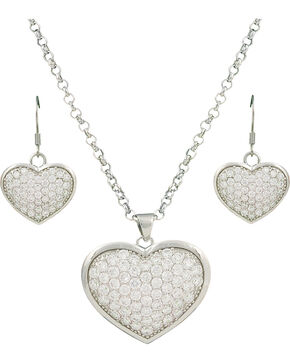 Montana Silversmiths Star Lights, Heart Bright Jewelry Set, Silver, hi-res