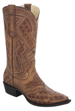 Corral Embroidered Cowboy Boots - Snip Toe, , hi-res