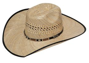 Twister 10X Americana Star Concho Straw Cowboy Hat, Brown, hi-res