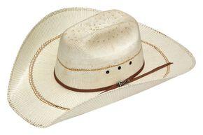 Twister Bangora Maverick Colton Straw Cowboy Hat, Natural, hi-res