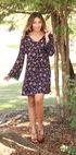 Wrangler Women's Black Crochet Trim Floral Dress , Black, hi-res