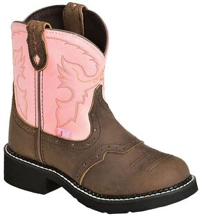 Justin Youth Girls' Bay Apache Pink Gypsy Boots, Bay Apache, hi-res