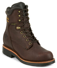 "Chippewa Men's 8"" Lace Up Boots - Round Toe, , hi-res"