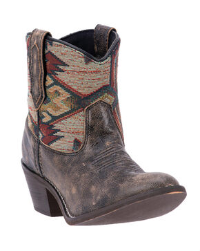 Laredo Women's Leather Micah Western Boots - Round Toe, Taupe, hi-res