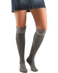 Blazin Roxx Grey Sparkle Knee-High Socks, , hi-res