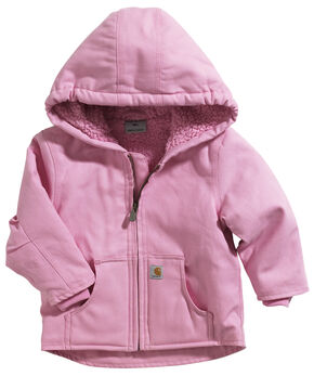 Carhartt Toddlers Girls' Pink Sherpa Lined Duck Active Jacket - 2T-4T, Pink, hi-res