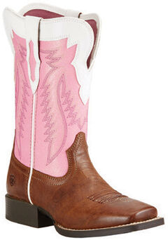 Ariat Girls' Buscadero Cowgirl Boots - Square Toe, , hi-res