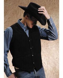 Roper Suede Buckle Tie Vest - Big and Tall, , hi-res