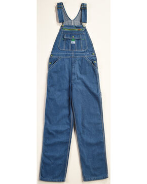 Liberty Stonewashed Denim Bib Overalls , Indigo, hi-res