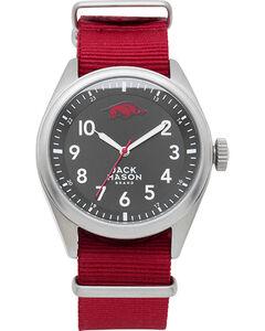 Jack Mason University of Arkansas Nato Solid Strap Watch , , hi-res