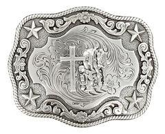Nocona Rope Edge Cowboy Prayer Buckle, , hi-res