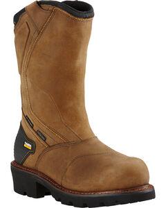 Ariat Men's Brown Powerline H20 400g Work Boots - Composite Toe, , hi-res