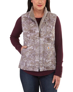 Carhartt Women's Hybrid Camo Printed Sandstone Mock Neck Vest , , hi-res