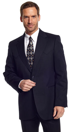 Circle S Men's Black Abilene Sport Coat - Big & Tall, Black, hi-res