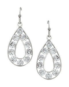 Montana Silversmiths Women's Radiant Teardrop Earrings , , hi-res