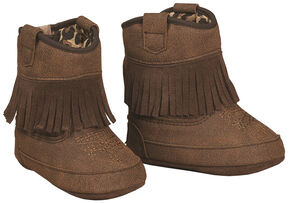 Blazin Roxx Brown Baby Bucker Annabelle Booties , Brown, hi-res