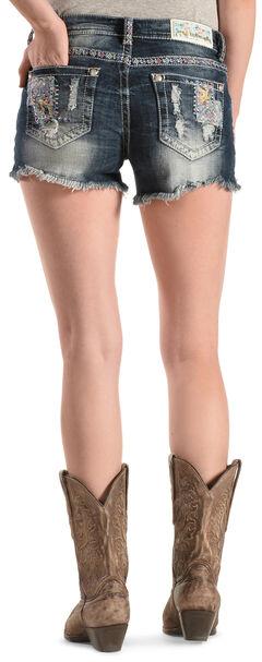 Grace in L.A. Women's Patch Cut-Off Shorts, , hi-res