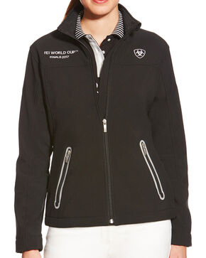 Ariat Women's FEI World Cup Team Softshell Jacket, Black, hi-res