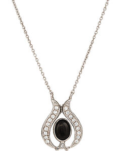 Montana Silversmiths Convertible Winged Onyx Necklace, , hi-res