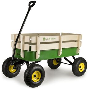 John Deere Steel Stake Wagon, Green, hi-res