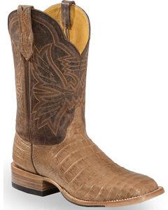 Cinch Classic Caiman Mad Dog Goatskin Cowboy Boots - Square Toe, , hi-res