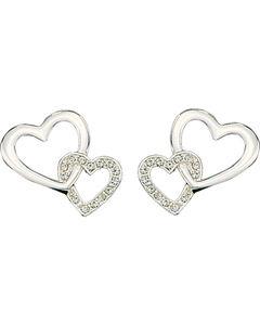 Montana Silversmiths Hanging Crystal Heart Earrings, , hi-res