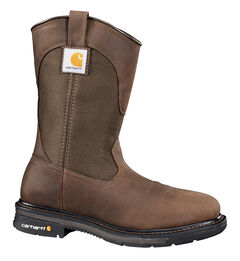 Carhartt Dark Bison Brown Wellington Work Boots - Steel Toe, , hi-res