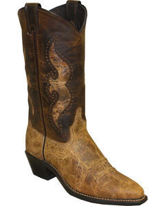 Abilene Women's Distressed Shaft Underlay Western Boots - Snip Toe, , hi-res