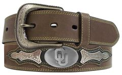 University of Oklahoma Concho Overlay College Belt, , hi-res
