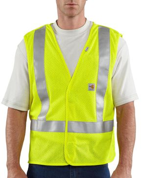 Carhartt Flame Resistant Hi-Visibilty Breakaway Vest - Big & Tall, Lime, hi-res