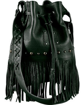 "STS Ranchwear ""The Free Spirit"" Bucket Bag, Black, hi-res"
