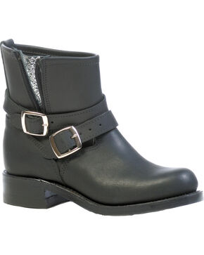 Boulet Everest Black Two Buckle Round Toe, Black, hi-res