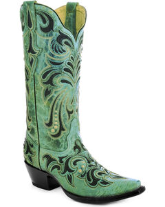 Corral Women's Embroidered Cowgirl Boots - Snip Toe, , hi-res