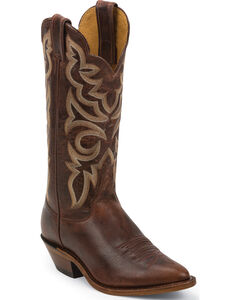 Justin Bent Rail Cognac Damiana Cowgirl Boots - Pointed Toe, , hi-res