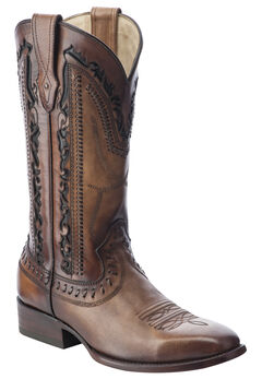 Corral Laser Cut Whip-Stitch Cowboy Boots - Square Toe, , hi-res