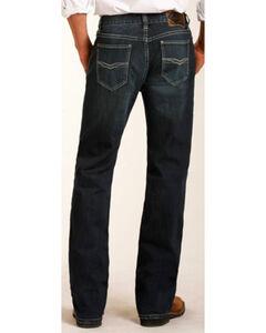 Rock & Roll Cowboy Men's Raised Denim Reflex Double Barrel Straight Leg Jeans, , hi-res