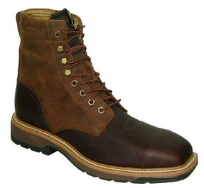 "Twisted X Lite 8"" Lace-Up Waterproof Work Boots -Steel Toe, Oiled Rust, hi-res"