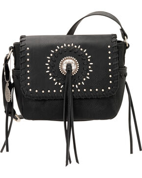 Bandana by American West Sioux Collection Crossbody Flap Bag, Black, hi-res