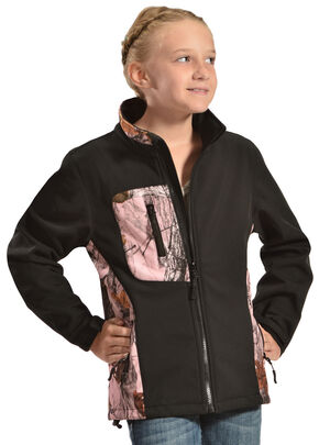 Red Ranch Pink Camo Bonded Jacket, Black, hi-res