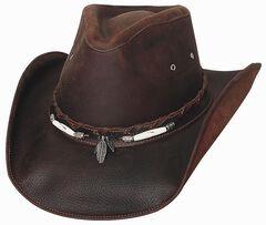Bullhide Briscoe Leather Cowboy Hat, , hi-res