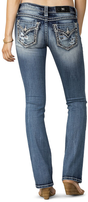 Miss Me Women's Breakthrough Distressed Pocket Jeans - Plus Size , Indigo, hi-res
