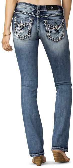 Miss Me Women's Breakthrough Distressed Pocket Jeans - Extended Sizes, Indigo, hi-res