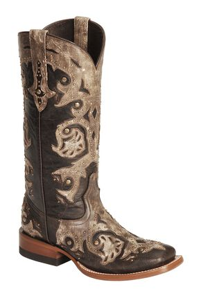 Lucchese Handcrafted 1883 Oklahoma Cowgirl Boots - Square Toe, Tobacco, hi-res