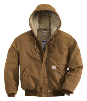 Carhartt Flame-Resistant Midweight Active Hooded Jacket, Carhartt Brown, hi-res